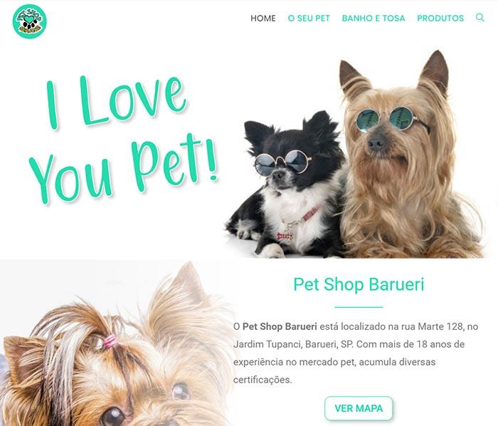 Criação de Site Profissional de Pet Shop